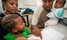 Aliyah Ethiopian Kalisher classroom family