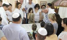 תפילת יום כיפור בבית הכנסת הרפורמי בבת עין