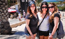 Taglit-KangaRusski participants, in Jaffa during the first-ever such Birthright visit by Australia's Russian-speaking Jewish community, organized by The Jewish Agency for Israel