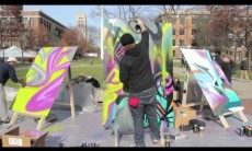 UofM Spraypaint Israel with Artists4Israel