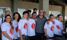 ניר סלע עם הנערים מהונגריה וישראל