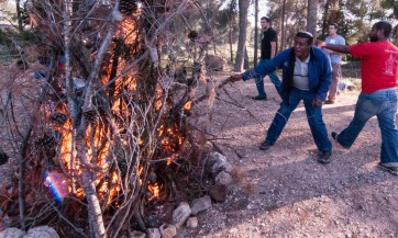 Ethiopian youth revel at pre-bar a batmitzva - Lag Bomer bonfire ​ TEASER: Theres no comparison between their experiences and mine, said an older Ethiopian counselor  ALT: Its totally different, the madrich said, noting that even the pre-aliyah pr