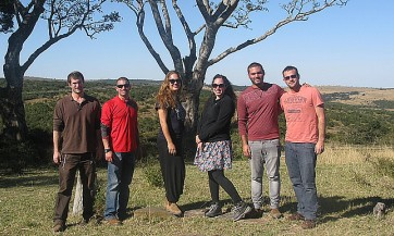 David Fuchss, Naveh Yogev, Eliraz Wohl, Tamar Glauber, Natanel Ashtam and Yaniv Nachmias at Mpongo Private Game Reserve, East London