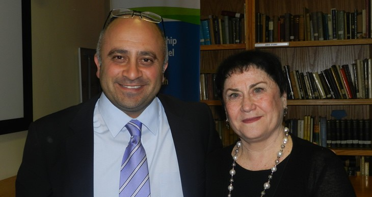 Shimon Shamila, Director Israel Centre and Hannah Ben Moshe, Head of Hebrew KDVP High at Israel Centre Educator Cocktail Event