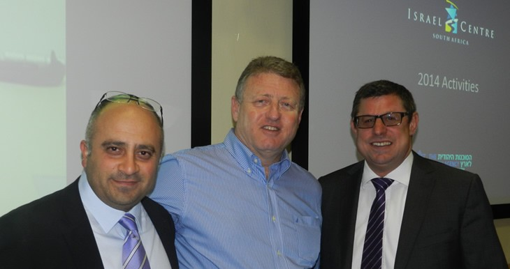 Shimon Shamila, Director Israel Centre, Offer Isseroff, Head of Shlichim Units Jewish Agency and Avrom Krengel, Chairman SAZF