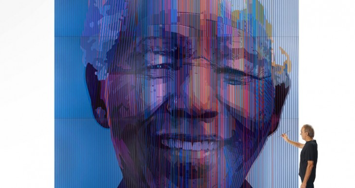 Nelson Mandela, of blessed memory (1918-2013), painted by South African artist, Paul Blomkamp