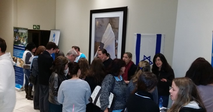 Israeli Institutions table at Tertiary Education Expo