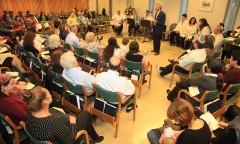 """הרב ד""""ר מרק רוזנשטיין, ראש התכנית הישראלית לרבנות הקודם, נואם בטקס תפילת הסמכה חגיגית לקראת הסמכה  - תשע""""ו"""