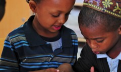 Yesodot-Ethiopian kids learning in a classroom