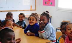 Yesodot-Ethiopian kids learning in a classroom