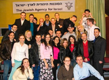 Alex Selsky: CEO, World Forum of Russian-Speaking Jewry, with a group of Russian Jews