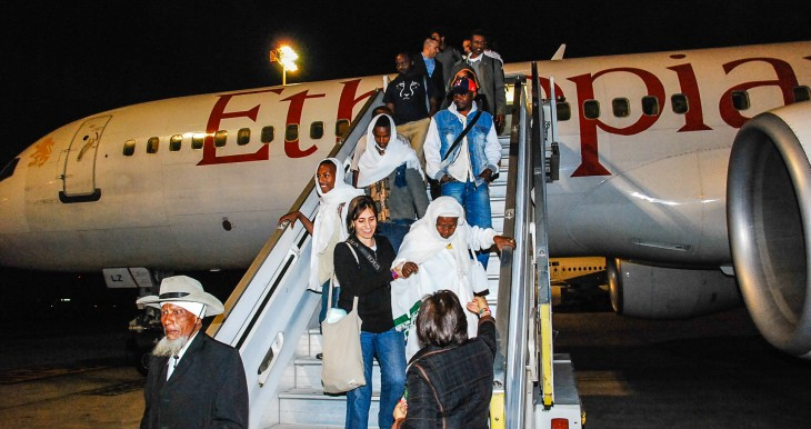 Aliyah Ethiopian departing night