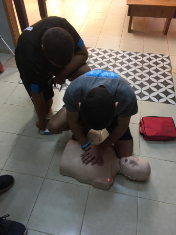 Teaching CPR for the Nirim Association