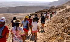 Machon participants on a desert trek