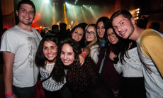 Masa Israel Journey program members at Jewish Agency Board of Governors Mega-event rock music performance in Jerusalem